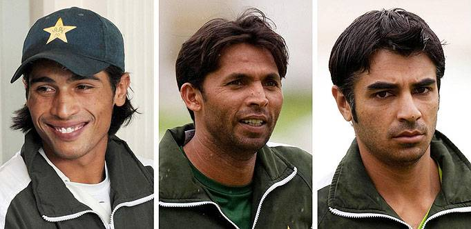 Mohammad Amir, Mohammad Asif and Salman Butt